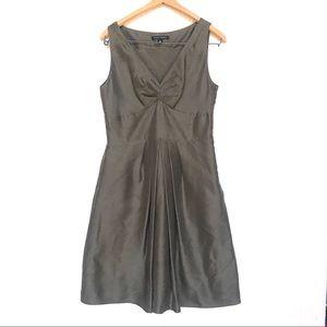 Banana Republic Brown Silk Sleeveless Dress, 10